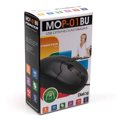 Мышь USB Dialog Pointer MOP-01BU