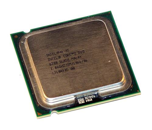 Процессор Intel s775 Core 2 Duo E6300 2x1.86GHz SL9TA б/у