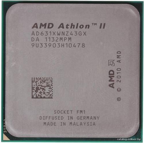 Процессор AMD sFM1 Athlon II X4 631 4x2.6GHz AD631XWNZ43GX б/у