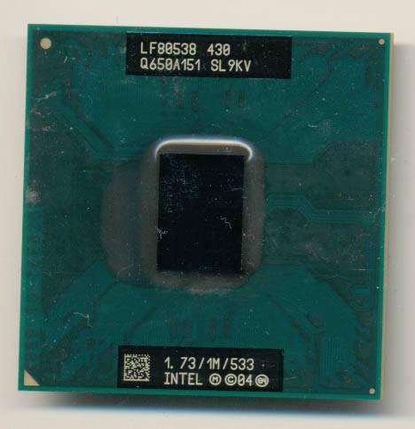 Процессор для ноутбука Intel PGA478 Celeron M 430 1x1.7GHz SL9KV б/у
