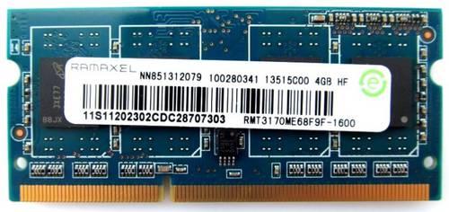 Оперативная память SO-DIMM DDR3 4Gb 1600MHz Ramaxel б/у