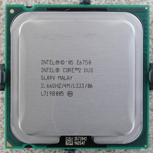 Процессор Intel s775 Core 2 Duo E6750 2.33GHz SLA9V б/у