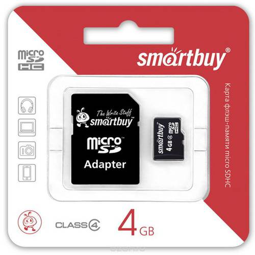 Карта памяти 4Gb Smartbuy