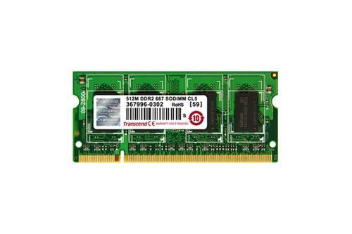 Оперативная память SO-DIMM DDR2 512Mb 667MHz Transcend б/у