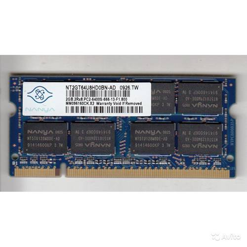 Оперативная память SO-DIMM DDR2 2Gb 800MHz Nanya б/у