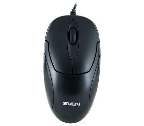 Мышь USB Sven черная б/у