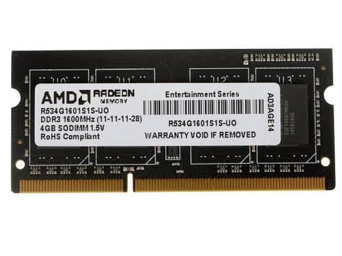 Оперативная память SO-DIMM DDR3 4Gb 1600MHz AMD б/у