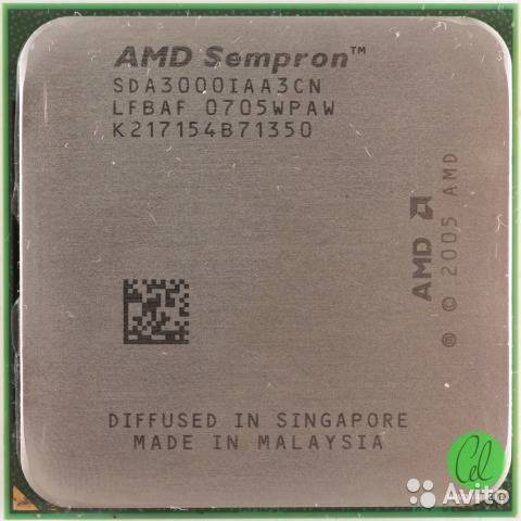 Процессор AMD sAM2 Sempron 3000+ 1.6GHz SDA3000IAA3CN б/у