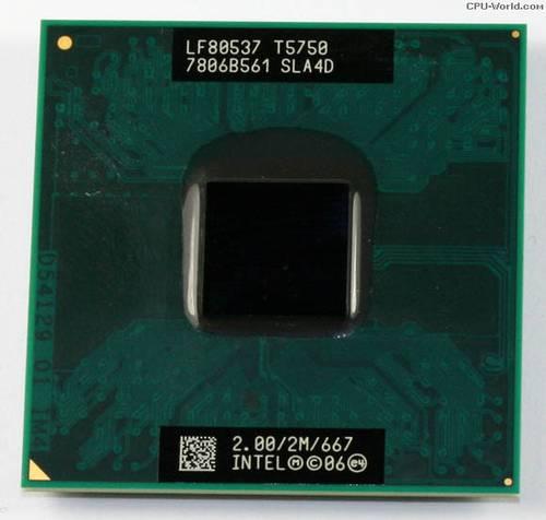 Процессор для ноутбука Intel sPPGA478 Core2 Duo T5750 2x2.00GHz SLA4D б/у