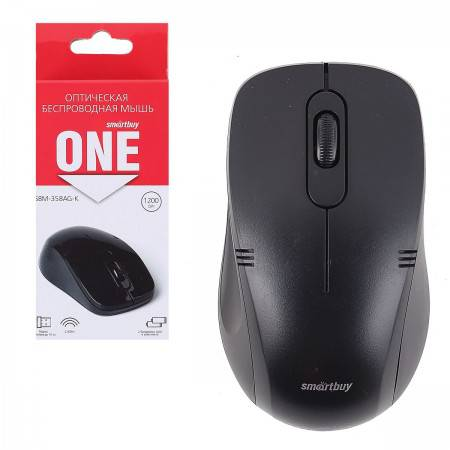 Мышь беспроводная USB Smartbuy ONE 358AG-K