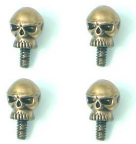 Винты для корпуса в виде черепа (позолоченные) 4шт.