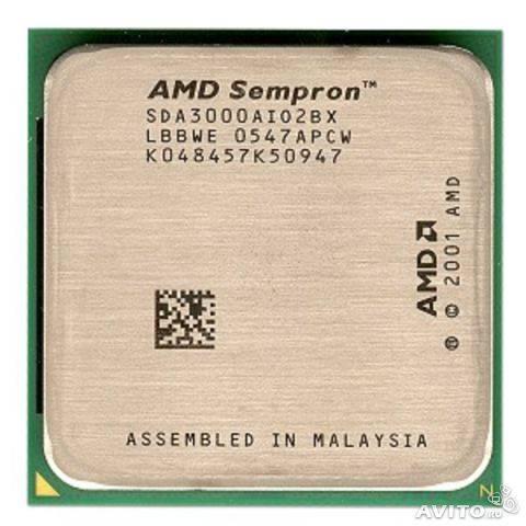 Процессор AMD s754 Sempron 3000+ 1.8GHz SDA3000AIO2BX б/у