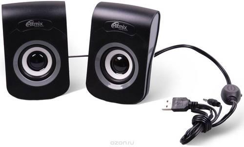 Колонки 2.0 Ritmix 2060 черно-серые USB