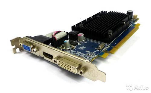 Видеокарта AMD Radeon HD4350 512Mb DDR2 64Bit VGA/DVI/HDMI б/у