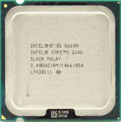 Процессор Intel s775 Core 2 Quad Q6600 4x2.40GHz SLACR б/у