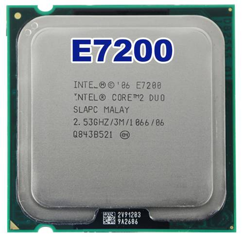 Процессор Intel s775 Core 2 Duo E7200 2.53GHz SLAVN б/у