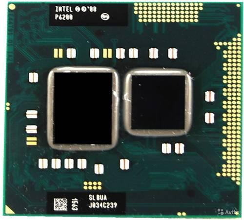 Процессор для ноутбука Intel sRPGA988B Pentium P6200 2x2.13GHz SLBUA б/у