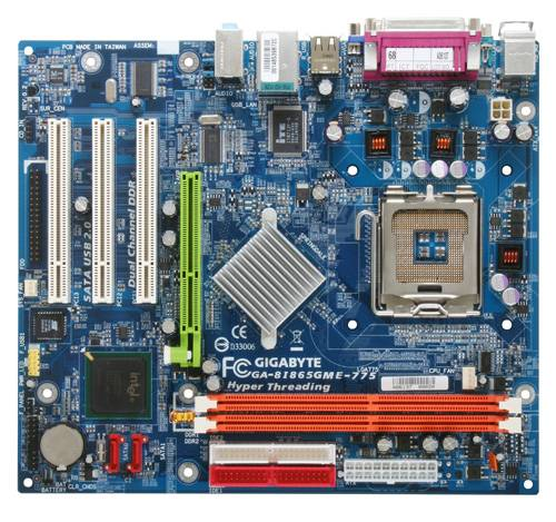 Материнская плата Gigabyte GA-8I865GME-775-RH s775/2xDDR1/2xSATA/2xIDE/AGP/SVGA б/у